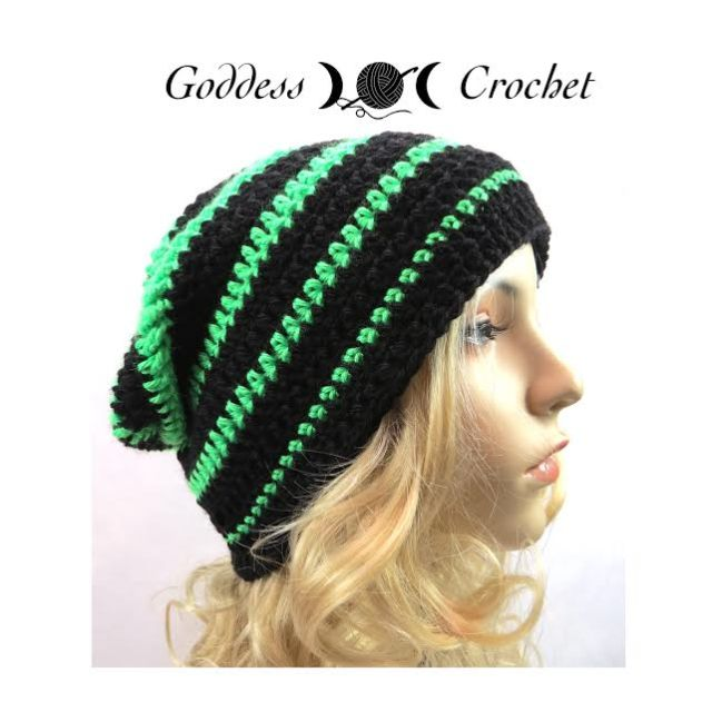 Free Crochet Hat Pattern - Graduated Stripes Beanie