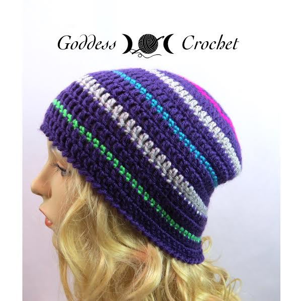 Free Crochet Pattern - Thick and Thin Striped Beanie