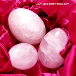 rose quartz yoni egg set, yoni egg set, yoni egg, jade egg, kegel, sacred sex, yoni eggs, yoni eggs canada, jade eggs canada, buy yoni eggs online, yoni eggs for sale Canada