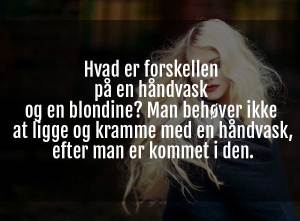 sjov blondine joke