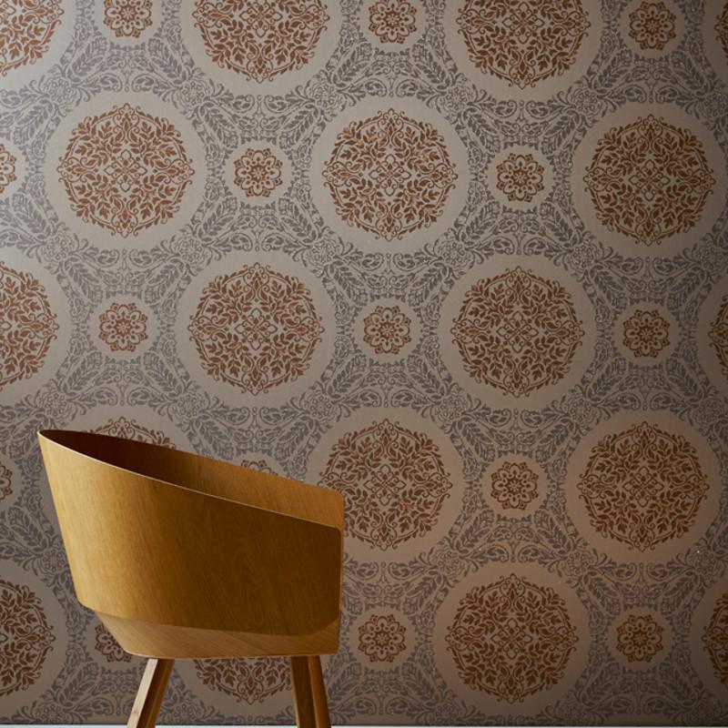 Arthouse Timour Glitter Wallpaper In Copper Colour
