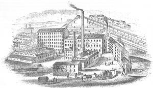 image of Victorian mills in Dewsbury