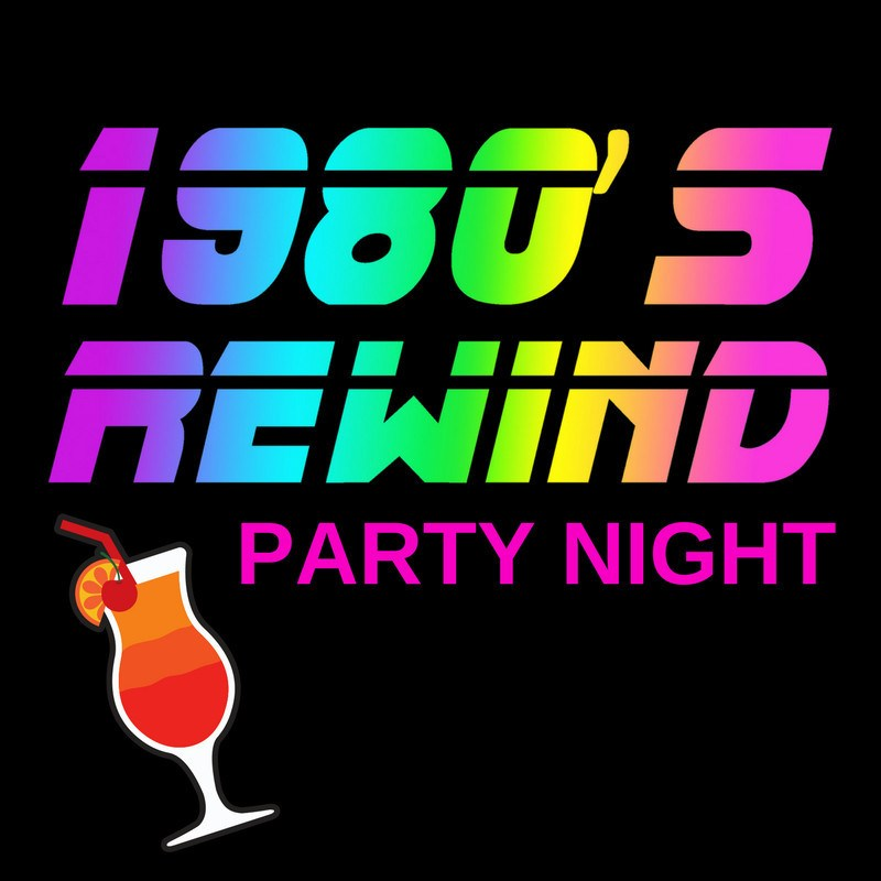 poster for 1980s Rewind Party Night in Dewsbury Town Hall