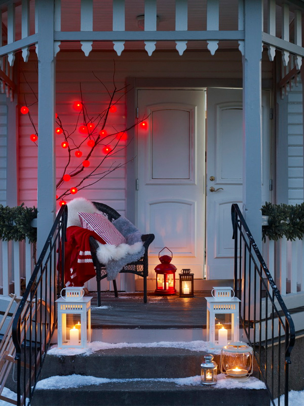 30 AMAZING FRONT PORCH CHRISTMAS DECORATION IDEAS