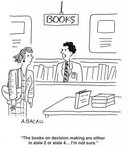 decision making cartoon