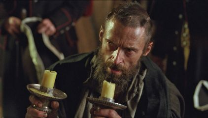 Valjean with candlesticks
