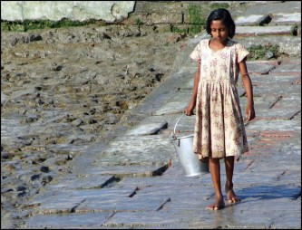 girl with bucket