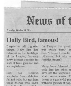 holly newspaper