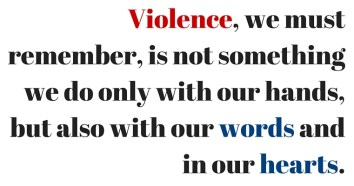 violence in words and heart