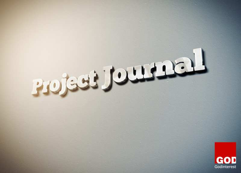 Project Journal 3D Logo In Silver On White Backgorund