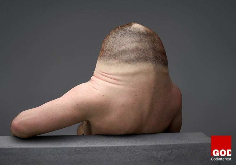 removing the neck has sacrificed his mobility to make his head more resilient to injury in a crash