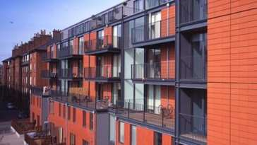 An award-winning estate which was constructed in 2003 using a semi-modular construction approach.