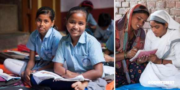 These Bridge of Hope students look happy during class time at GFA's Bridge of Hope program. Education can protect a girl from exploitation–and redirect her future. This is a primary solution to begin changing the statistics of 100 million missing women.