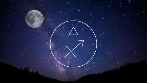 Volle maan in boogschuter