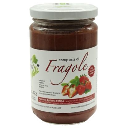 composta di fragole senza zuccheri aggiunti