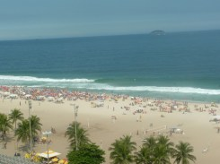 Ipanema Beach - view from our hotel