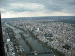 Looking out over Paris from the Eiffel Tower