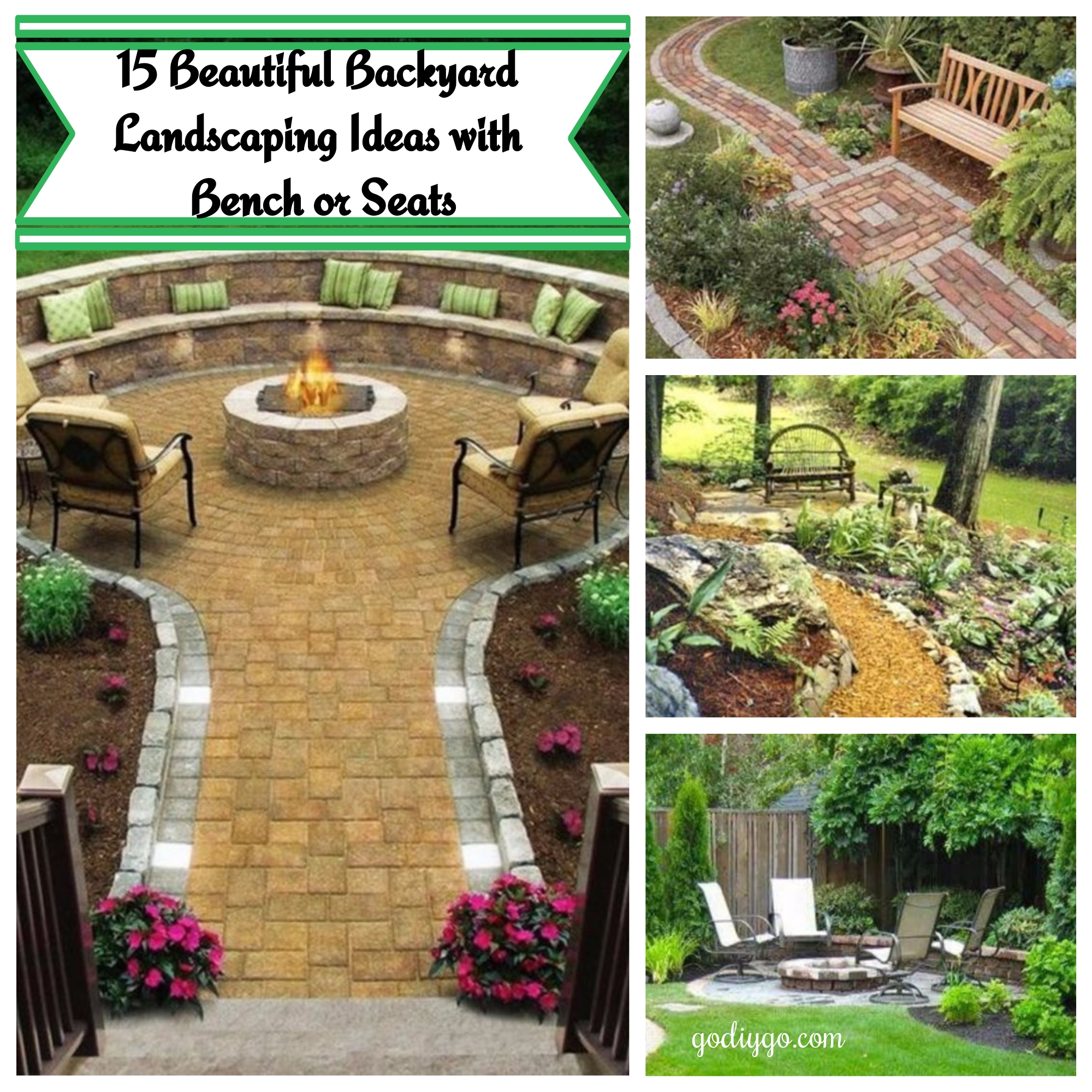 Beautiful Backyard Landscaping Ideas 15 beautiful backyard landscaping ideas with bench or seats