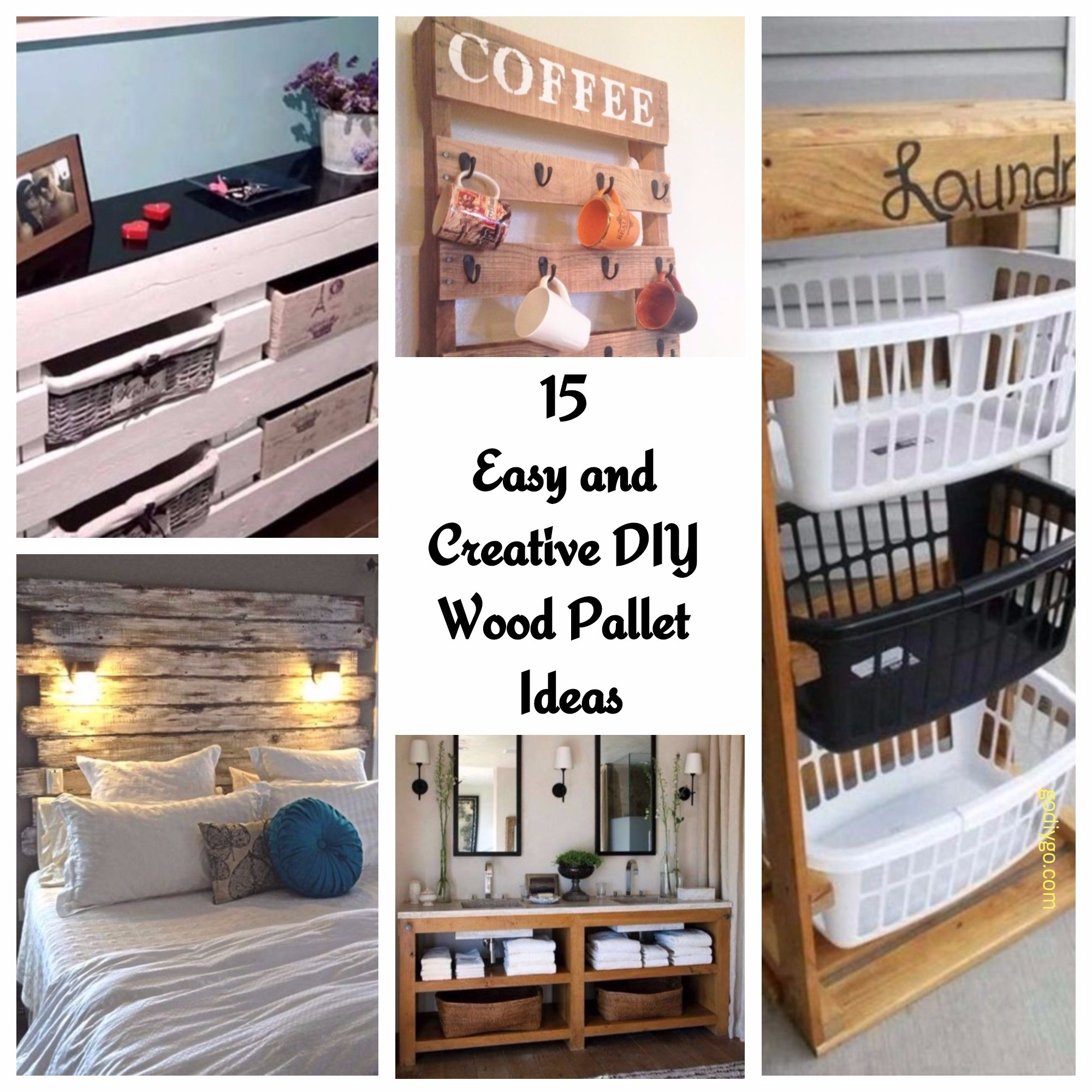 15 Easy And Creative Diy Wood Pallet Ideas Godiygo Com