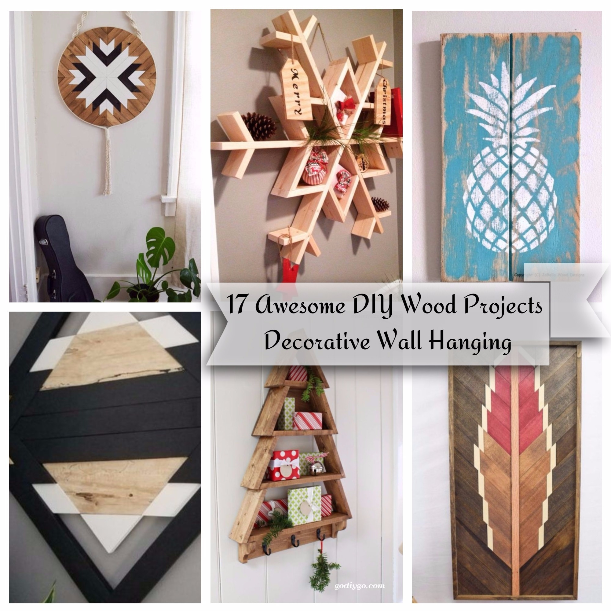 17 Awesome DIY Wood Projects Decorative Wall Hanging