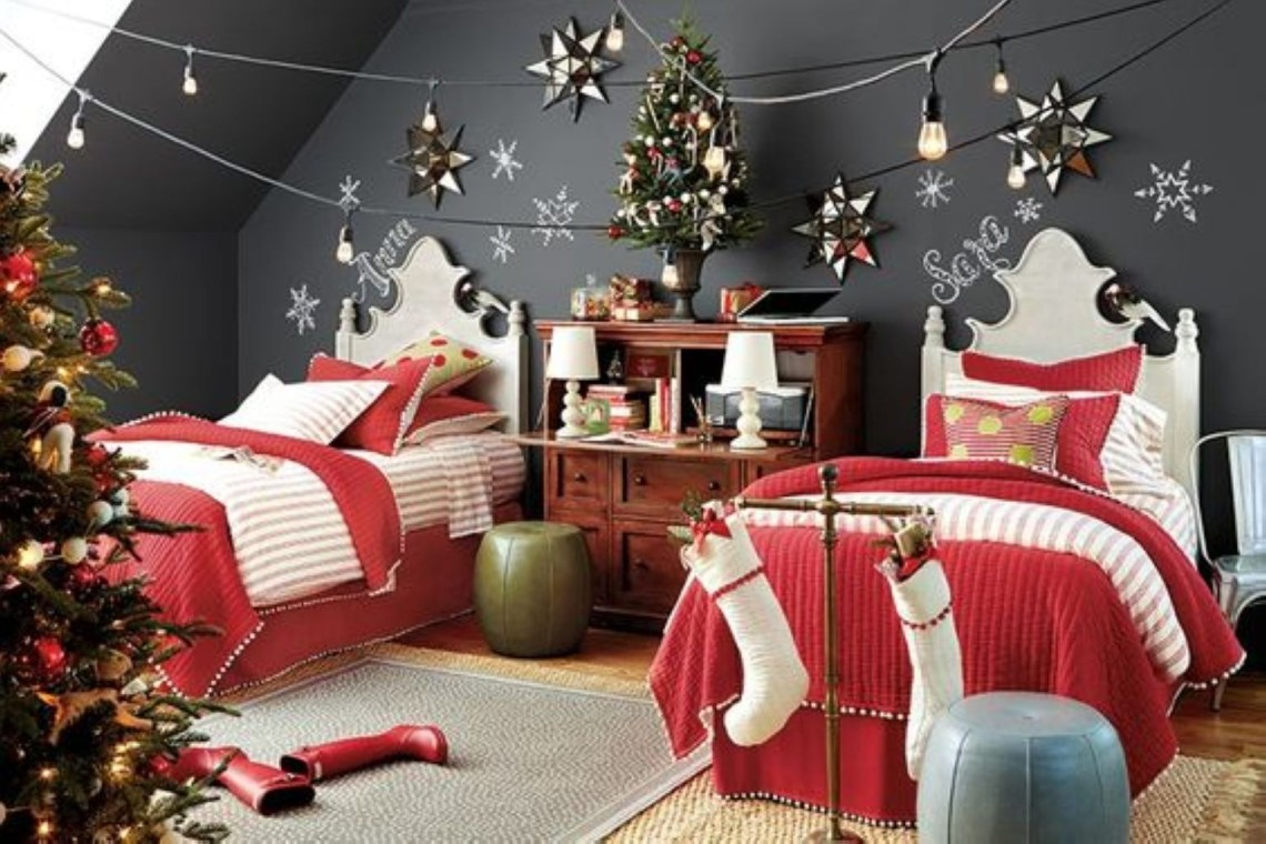 Creative christmas bedroom decorating ideas for playing children