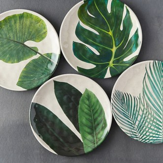 Creative diy dishes made from clay leaves 02