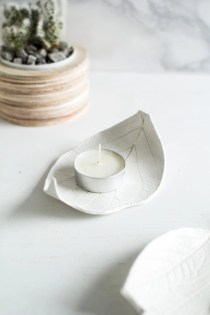 Creative diy dishes made from clay leaves 23