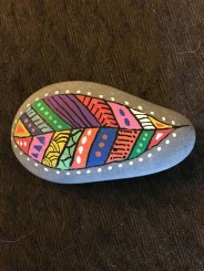 Diy cristmas painted rock design 26
