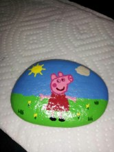 Diy cristmas painted rock design 42