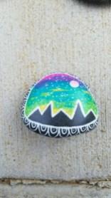 Diy cristmas painted rock design 44