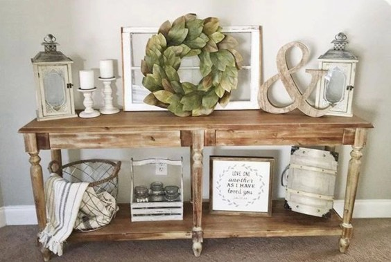 Diy farmhouse entryway inspiration 17