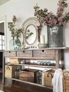 Diy farmhouse entryway inspiration 27
