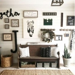Diy farmhouse entryway inspiration 43