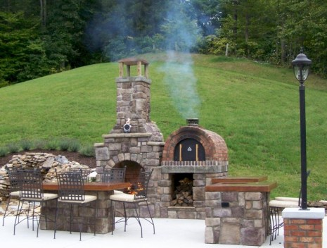 Diy outdoor fireplace and firepit ideas 03