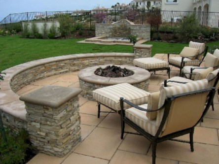 Diy outdoor fireplace and firepit ideas 15