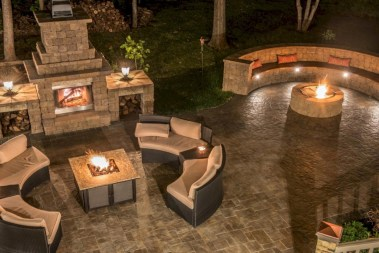 Diy outdoor fireplace and firepit ideas 19