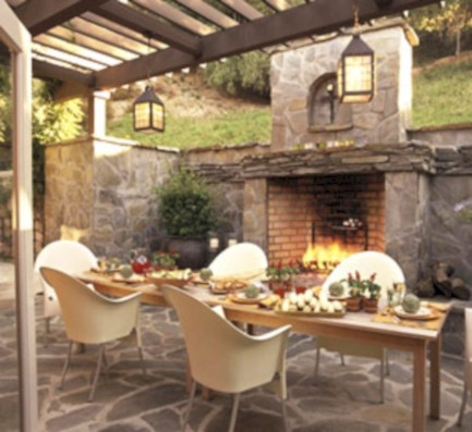 Diy outdoor fireplace and firepit ideas 25