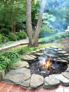 Diy outdoor fireplace and firepit ideas 26