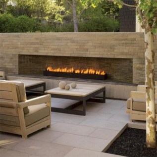 Diy outdoor fireplace and firepit ideas 27