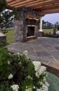 Diy outdoor fireplace and firepit ideas 31