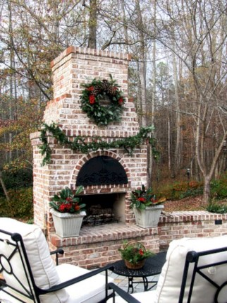 Diy outdoor fireplace and firepit ideas 32