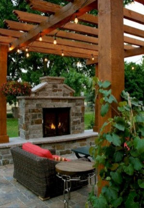 Diy outdoor fireplace and firepit ideas 33