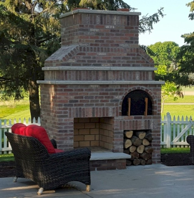 Diy outdoor fireplace and firepit ideas 37