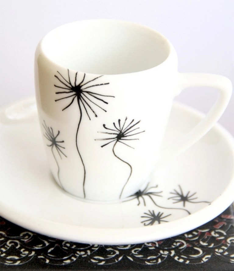 Diy painted porcelains to decorate your home 04