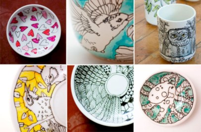 Diy painted porcelains to decorate your home 15