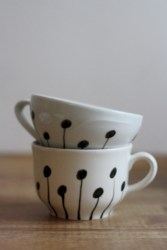 Diy painted porcelains to decorate your home 30