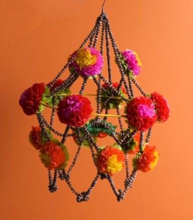 Diy polished chandelier planter 34