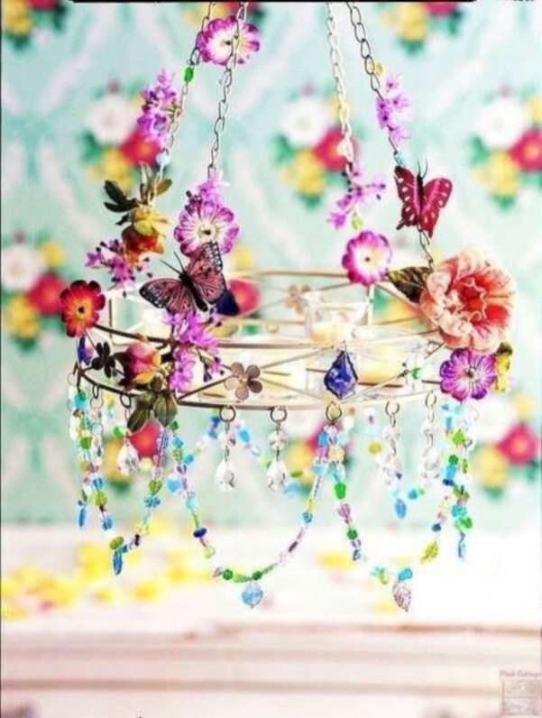 Diy polished chandelier planter 51