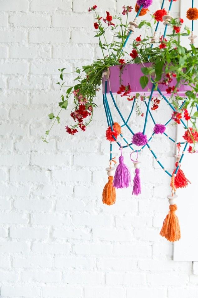 Diy polished chandelier planter 52