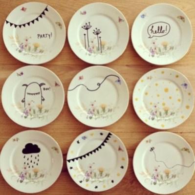 Diy sharpie dinnerware ideas 04